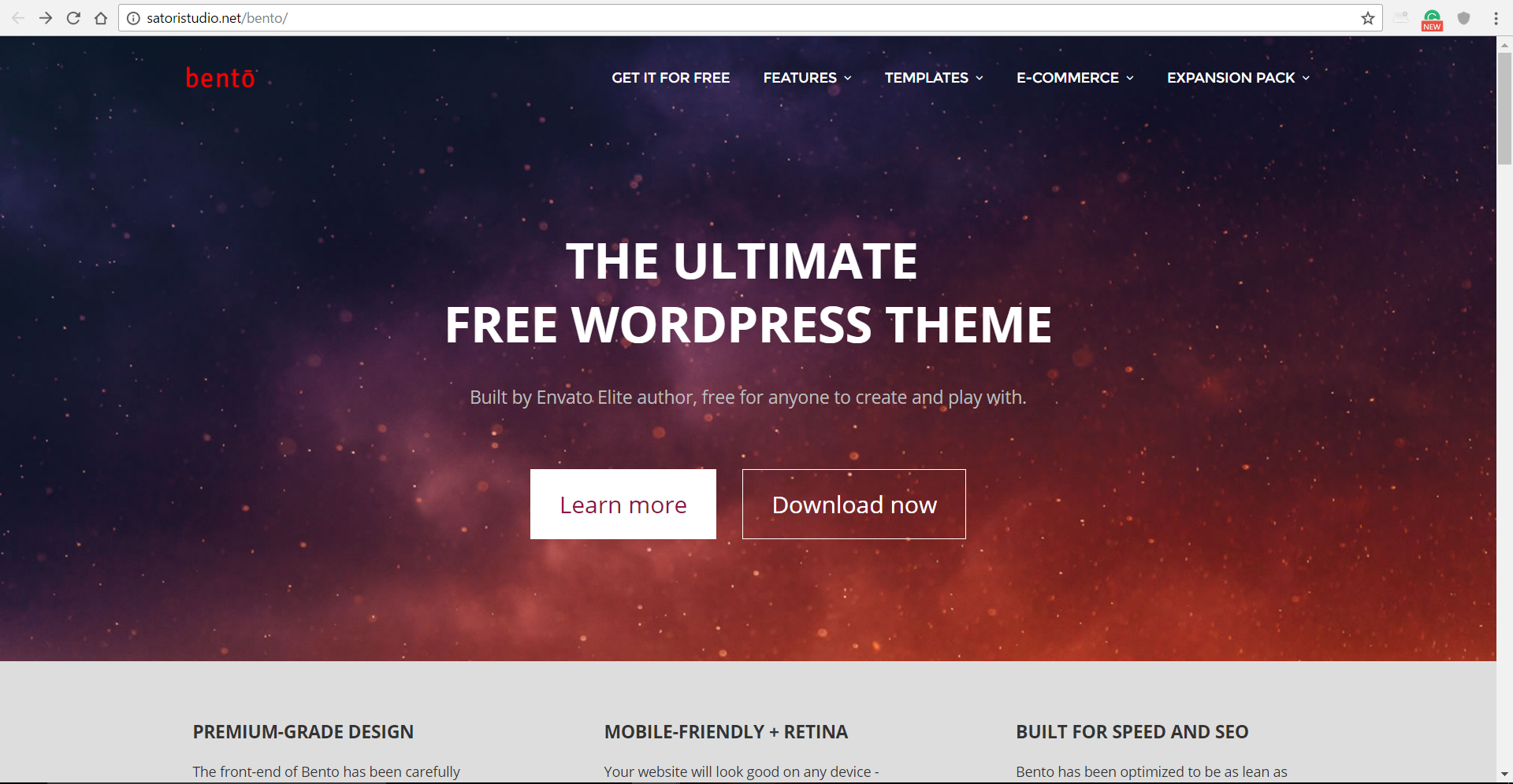 Bento – A Free Full Featured WordPress Theme
