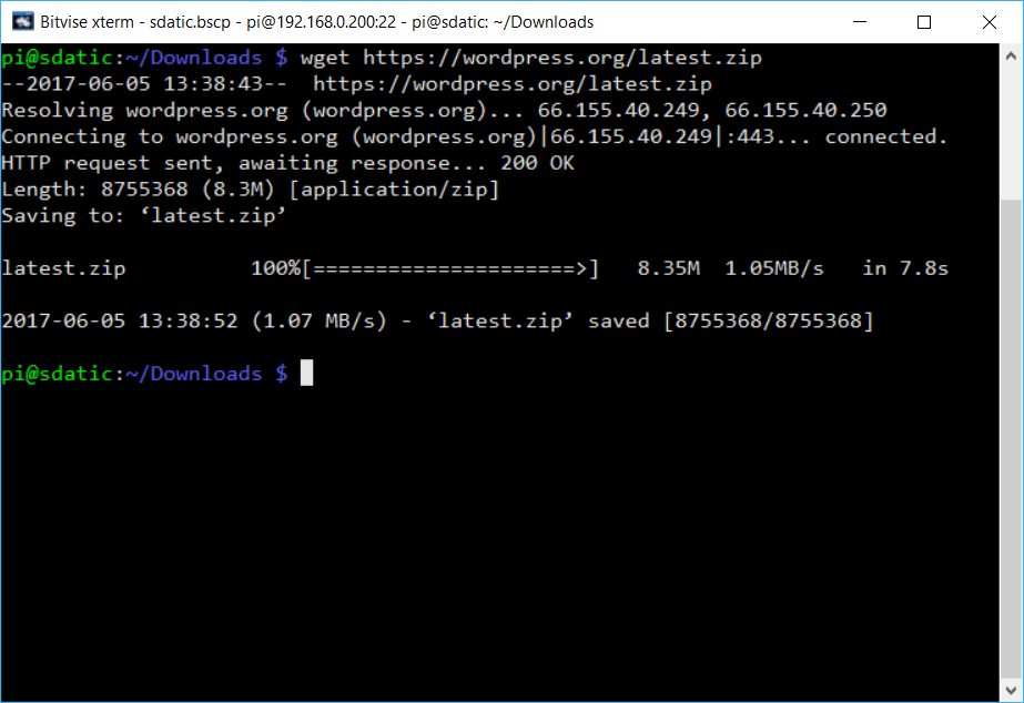 Using Wget To Down Files In Terminal | sdatic com